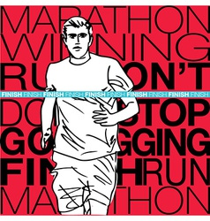 male runner sketch vector image vector image