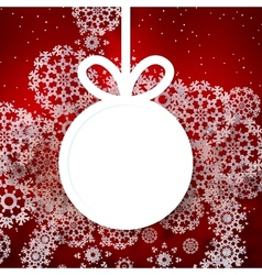 Red shiny christmas background with bauble vector image vector image