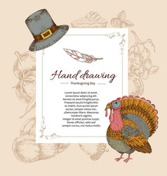Thanksgiving day letter template vector