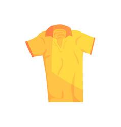 Yellow sport polo shirt vector