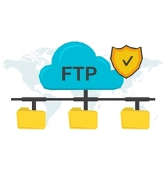 FTP concept with three folders vector image