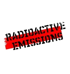 Radioactive emissions rubber stamp vector