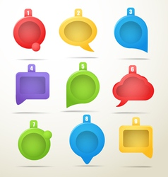 Color speech clouds collection vector