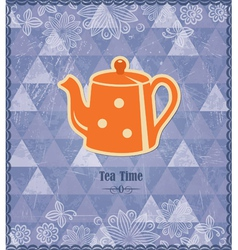 Tea time vintage pattern vector