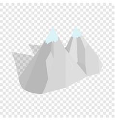 mountains isometric icon vector image