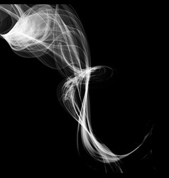 Abstract smoke isolated on black background vector