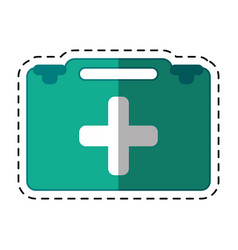 cartoon suitcase first aid medical vector image