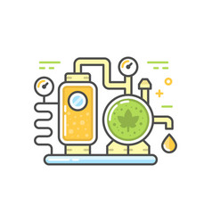Brewery line concept vector