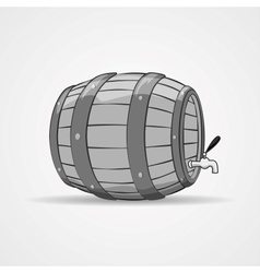 Old wooden barrel filled with natural wine or beer vector image