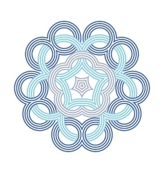 Celtic knot pattern card mandala amulet vector