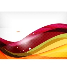 Purple and orange color lines vector
