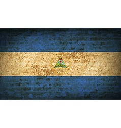 Flags nicaragua with dirty paper texture vector