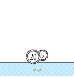 Coins icon cash money sign vector