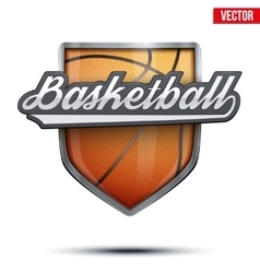 Premium symbol of basketball label vector