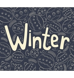 Winter background with curls vector