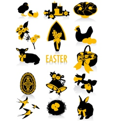 Easter silhouettes vector