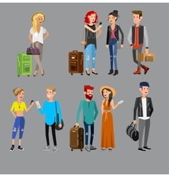 Family on vacation vector