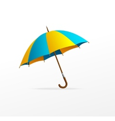 blue and yellow umbrella isolated vector image