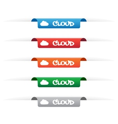 Cloud paper tag labels vector image vector image
