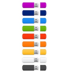 Colored USB flash vector image