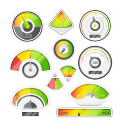 different speed indicators pictures of vector image