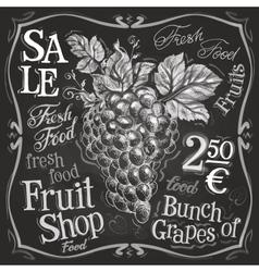 Grapes logo design template fresh fruit vector