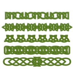Green celtic ornaments vector image