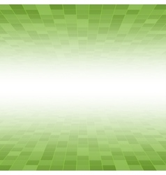Green mosaic tile square background perspective vector