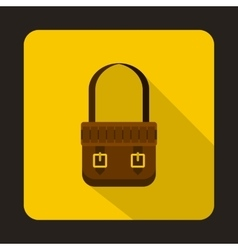 Hunting bag icon flat style vector