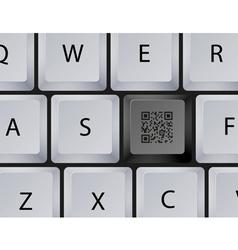 Keyboard qr code button vector