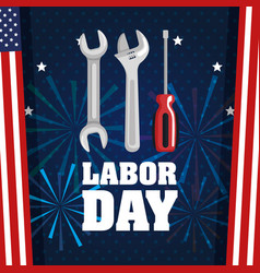 Labor day poster festival national celebration vector