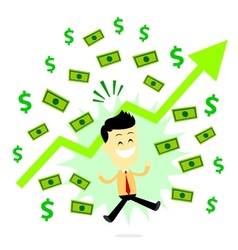 Man Making Profit in Business vector image vector image