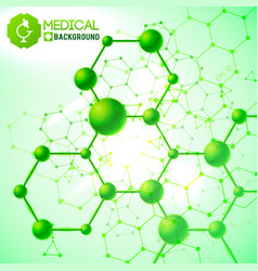 medical green background vector image vector image