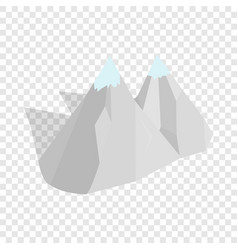 Mountains isometric icon vector