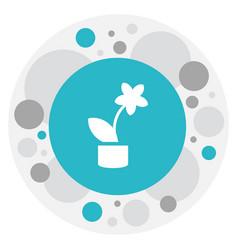 Of teach symbol on flowerpot vector
