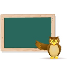 owl with board vector image vector image