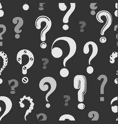 Question marks pattern vector