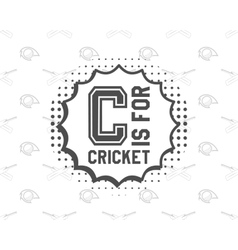 Retro cricket club emblem design logo icon vector