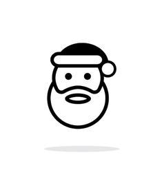 Santa Claus icon on white background vector image