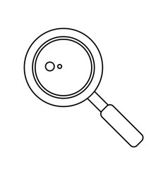 Search loupe school thin line vector