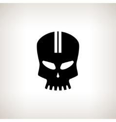 Sport moto speed skull isolated vector