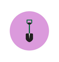 Stylish icon in color circle agriculture shovel vector