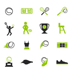 Tennis icons set vector