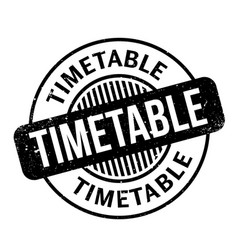 Timetable rubber stamp vector