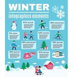 Winter season outdoor infographic elements poster vector