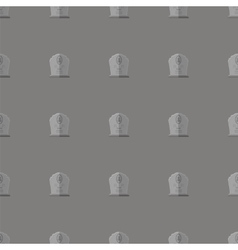 Gravestone seamless pattern stone monuments vector