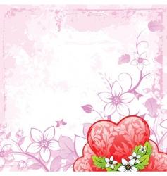 grunge Valentine's day card vector image