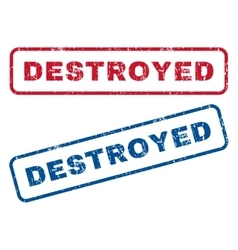 Destroyed rubber stamps vector