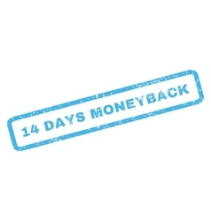 14 days moneyback rubber stamp vector