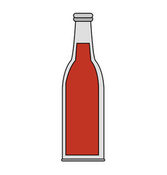 Color image cartoon bottle glass of refresh vector